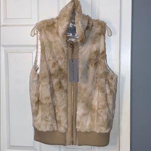 Marc New York Tan Faux Fur Vest